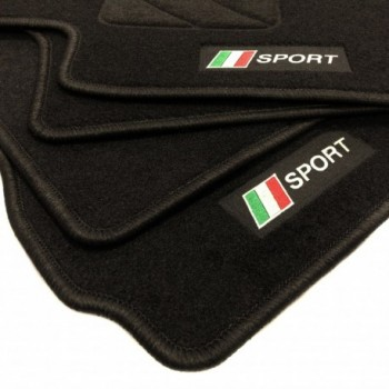 Italien flagge Fiat Punto Abarth Evo 3 plätze (2010 - 2014) Fußmatten