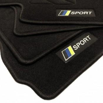 Racing flagge Subaru Impreza (2018 - neuheiten) Fußmatten